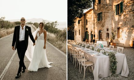 Justin Alexander Wedding Dress for an Outdoor Wedding in Tuscany