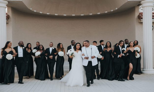 Classically Chic White and Black Wedding in Texas