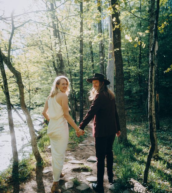Due to Covid-19 a wedding photographer Elopes in the woods   Elopements, Real Weddings