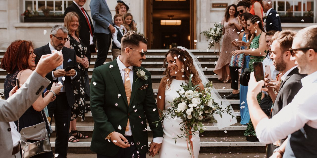 A Bride in a Made With Love Dress and Her Cool, Contemporary, Hackney Wedding