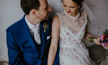 A Needle & Thread Floral Dress and Late Summer, Country House Wedding