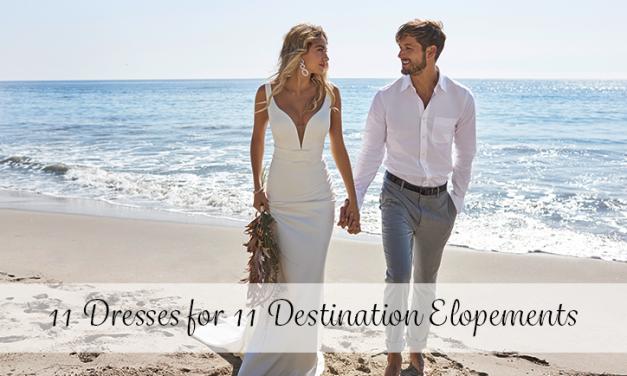 11 Wedding Dresses for 11 Destination Elopements