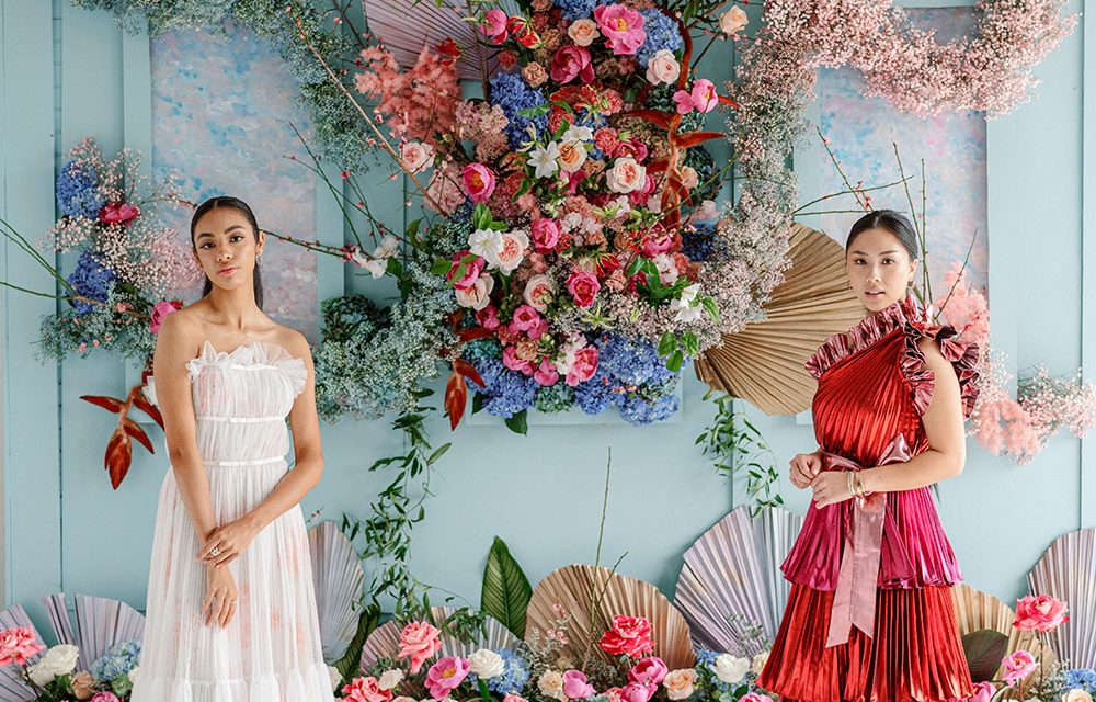 3 Sculptural Floral Backdrops With Colorful Designer Fashion ⋆ Ruffled