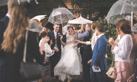 A Sweet & Romantic Rainy Day Wedding