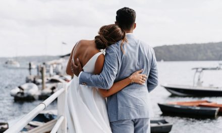 Anna & Denver's Contemporary Waterfront Wedding