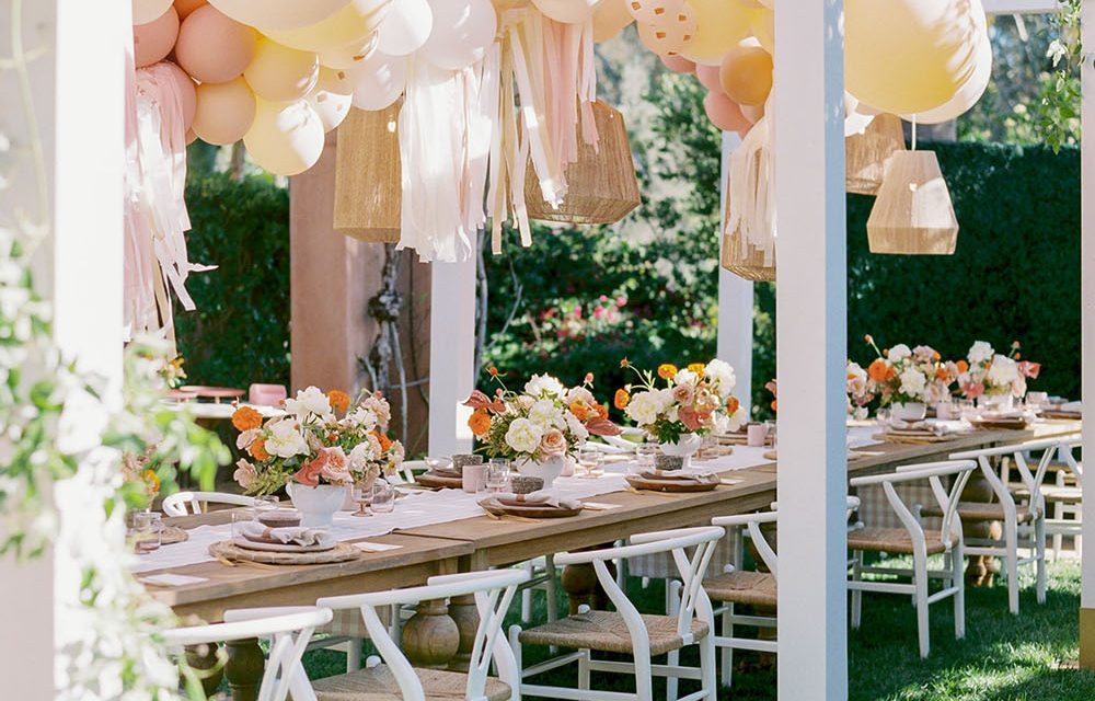 Peach and yellow Outback inspired baby shower by Amorology | Baby Shower